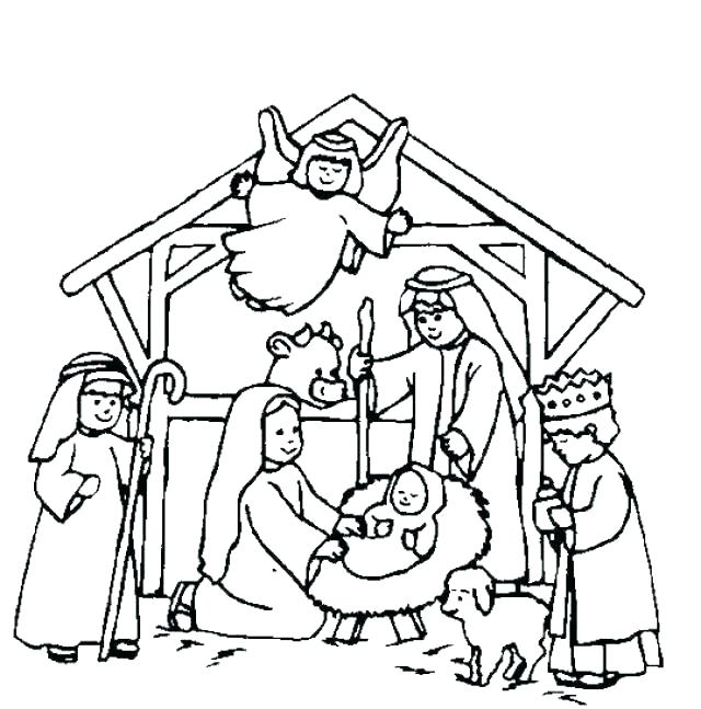 640x647 free nativity scene coloring pages free nativity scene coloring