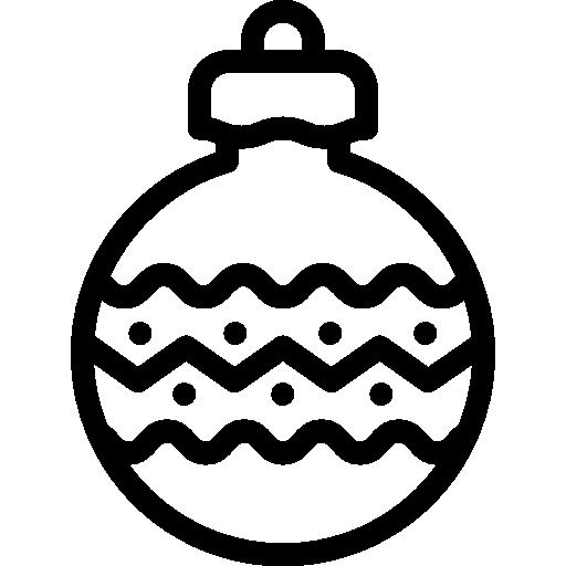 Christmas Ornament Line Drawing