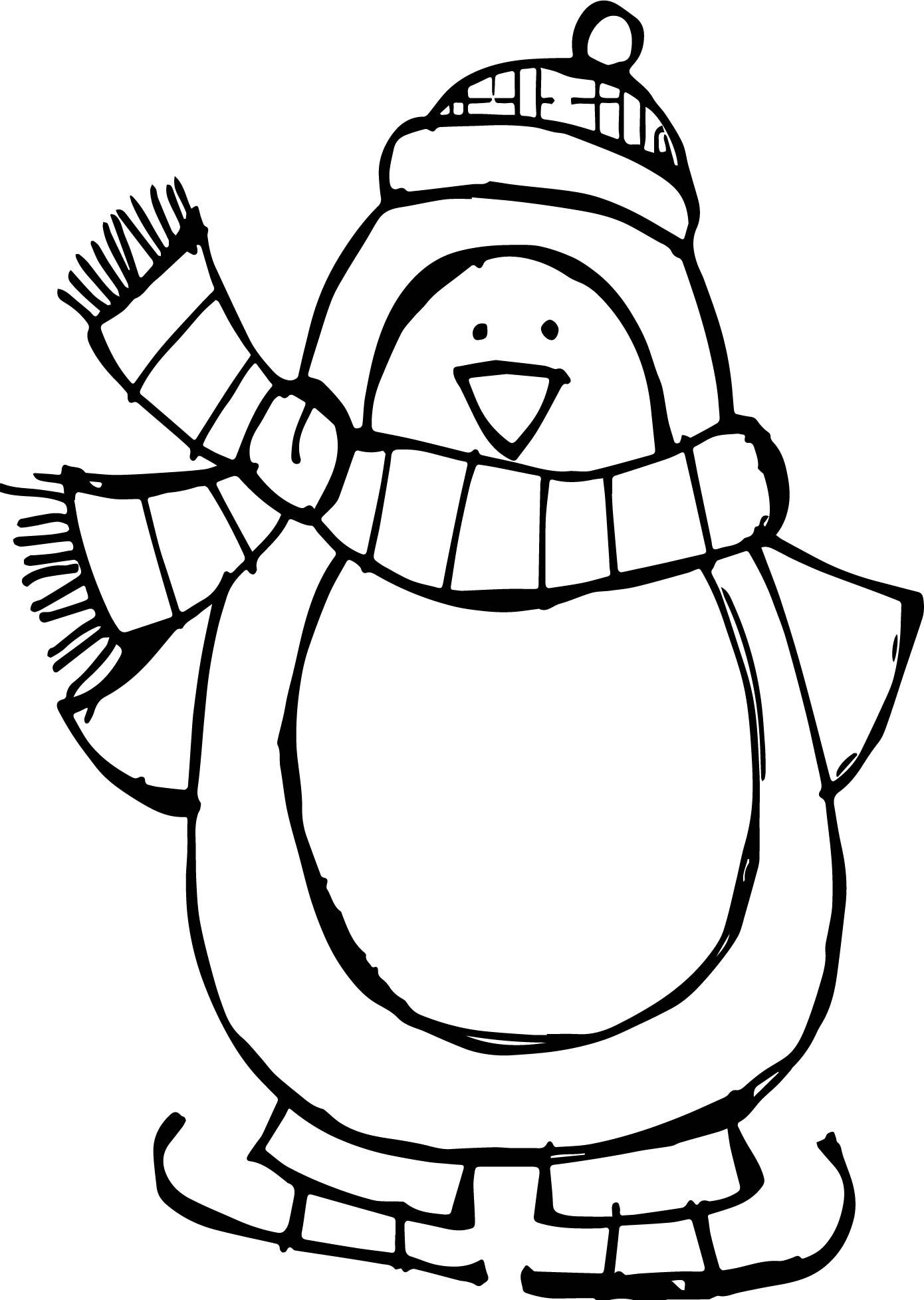 Christmas Penguin Drawing   Free download on ClipArtMag