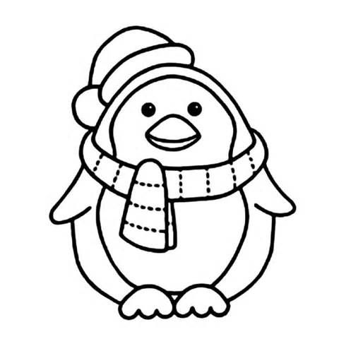 graphic about Printable Penguin Coloring Pages known as Xmas Penguin Drawing Absolutely free obtain most straightforward Xmas