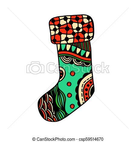 450x470 christmas boho sock christmas sock with beautiful multi colored