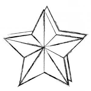 300x300 Christmas Star Decorative Icon Vector Sohadacouri