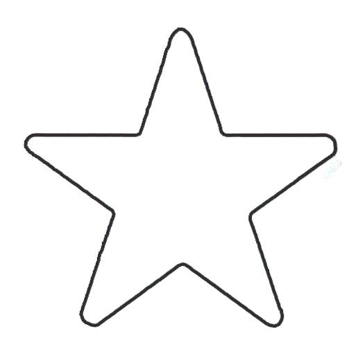 493x501 Christmas Star Template Large Felt Ornaments Crafts Spring Large