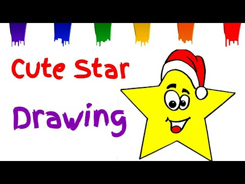 480x360 Download How To Draw A Christmas Star With Santa Cap Easy Star