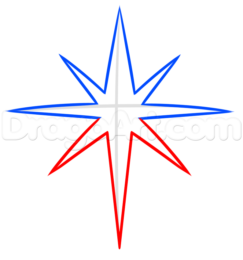 795x848 How To Draw A Christmas Star, Step