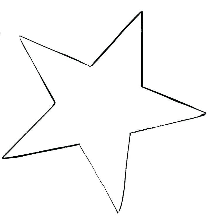 736x755 Large Star Template Printable Christmas Star Template Printable