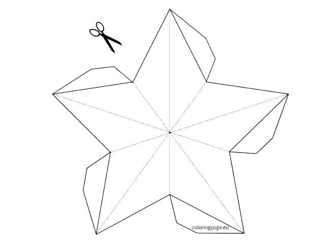 640x480 Christmas Star Template Large