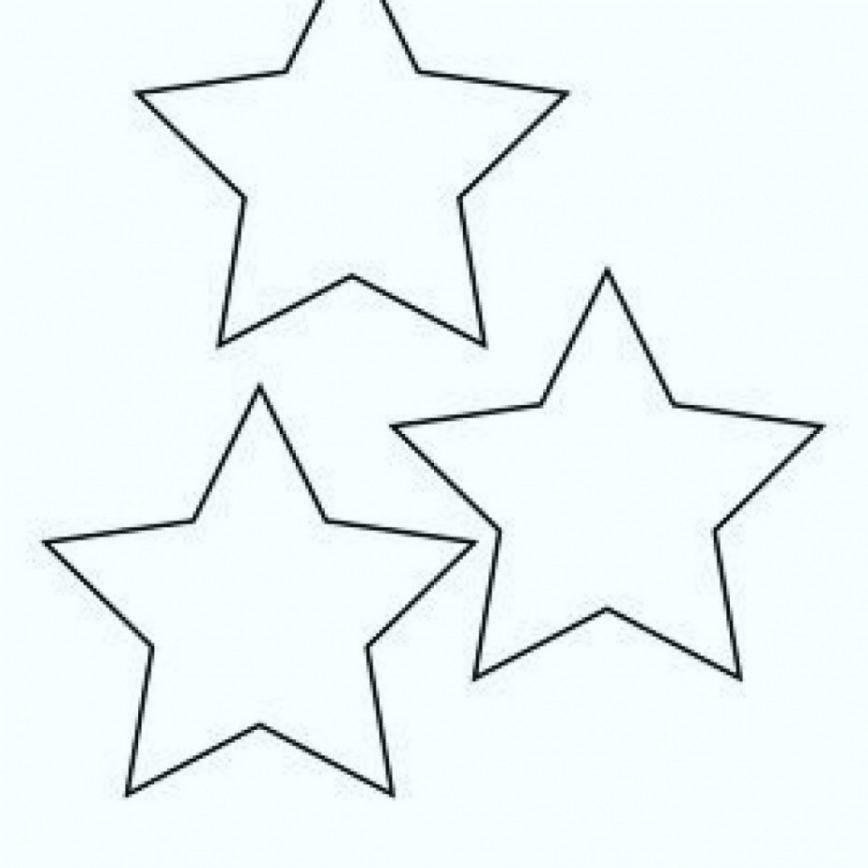868x868 Christmas Star Template To Print