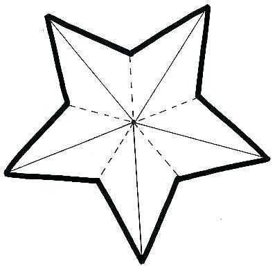 400x390 Christmas Star Template