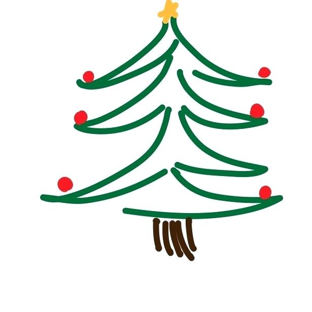 615x615 drawing a christmas tree tree drawing glitter christmas tree