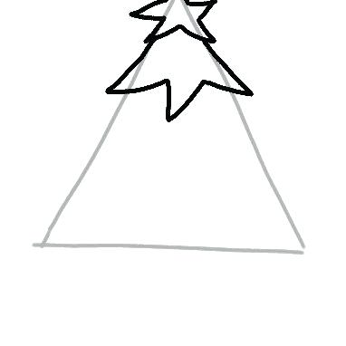 382x382 drawing christmas tree how to draw a tree step christmas tree