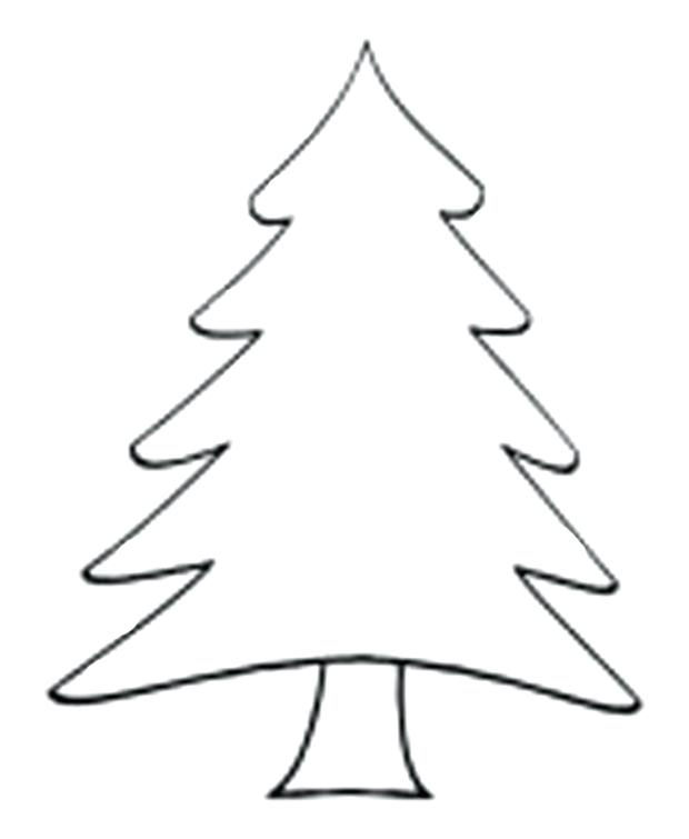 620x755 xmas tree outline tree with presents coloring pages for kids tree