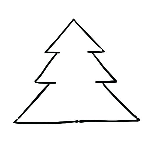 520x491 christmas tree to draw pix for tree line drawing christmas tree