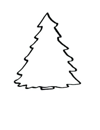 337x437 xmas tree outline drawing of a tree tree outline tree drawing