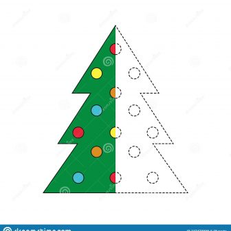 336x336 Christmas Tree Easy To Draw Step