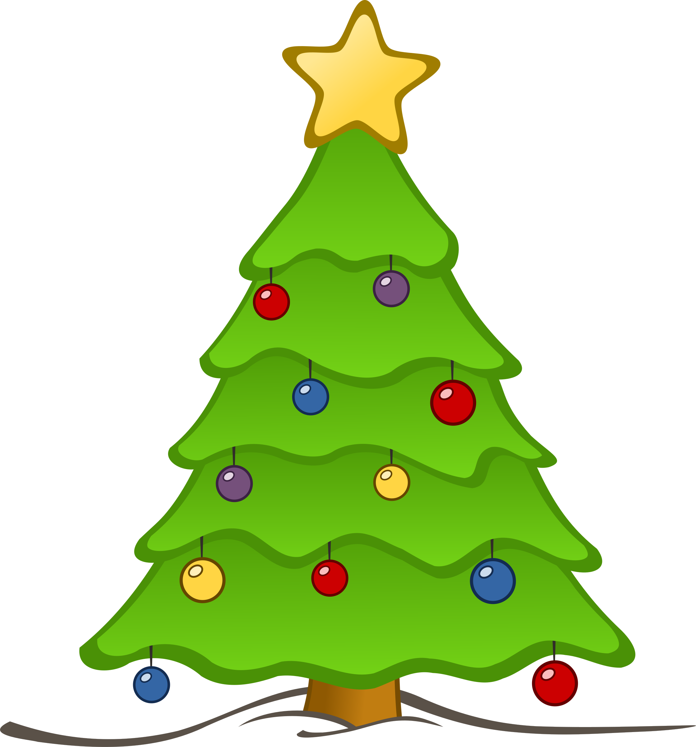 2237x2400 Collection Of 'christmas Trees Drawing' Download More Than