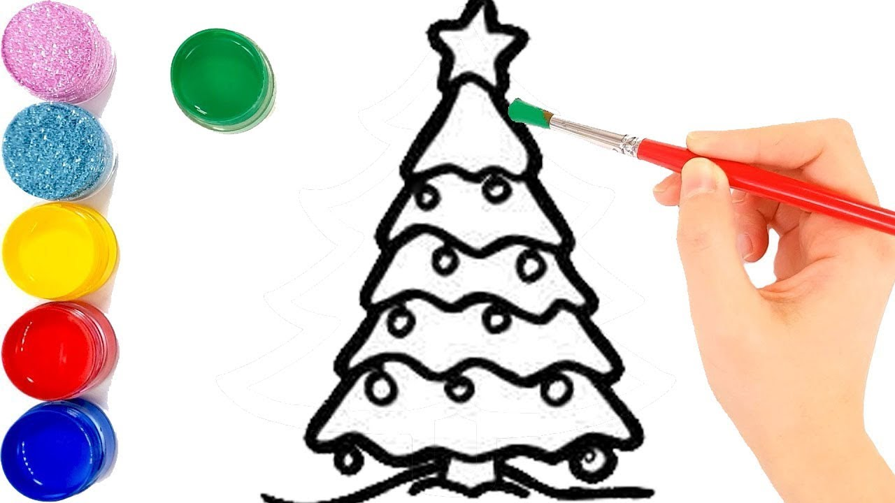 1280x720 Christmas Ornaments With Santa Claus Drawing For Kids