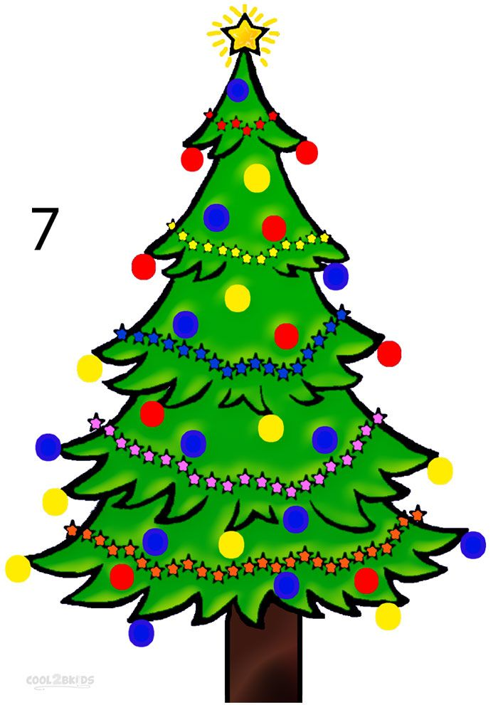 700x991 How To Draw A Christmas Tree