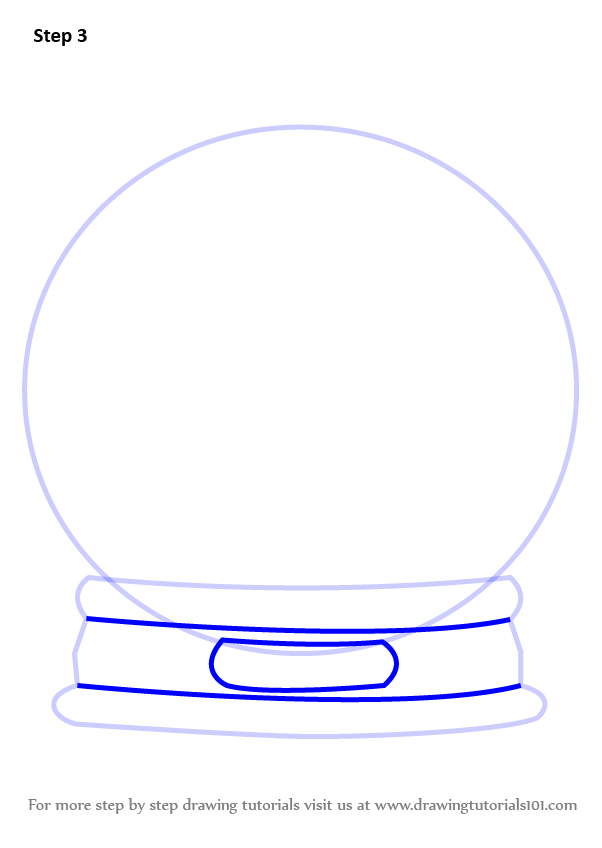 602x848 Learn How To Draw Snowglobe With Christmas Tree