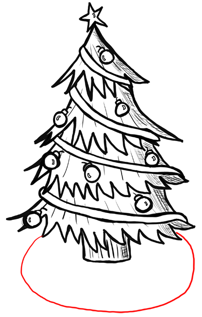 400x627 Step How To Draw Christmas Trees Step