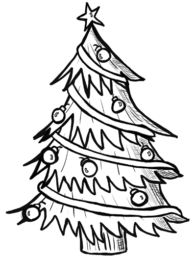 400x528 Step How To Draw Christmas Trees Step