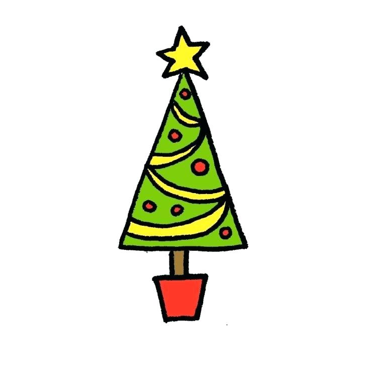 728x728 How To Draw An Easy Christmas Tree