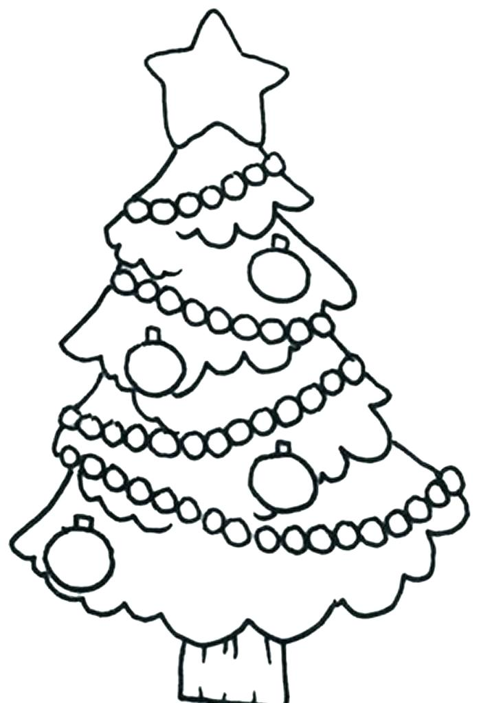 700x1024 Christmas Tree Drawing Easy E Coloring Template Drawing Easy Pages