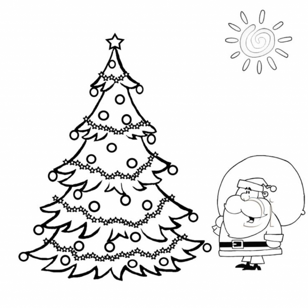 1024x1024 Christmas Tree Drawing Easy Video How To Make A Simple