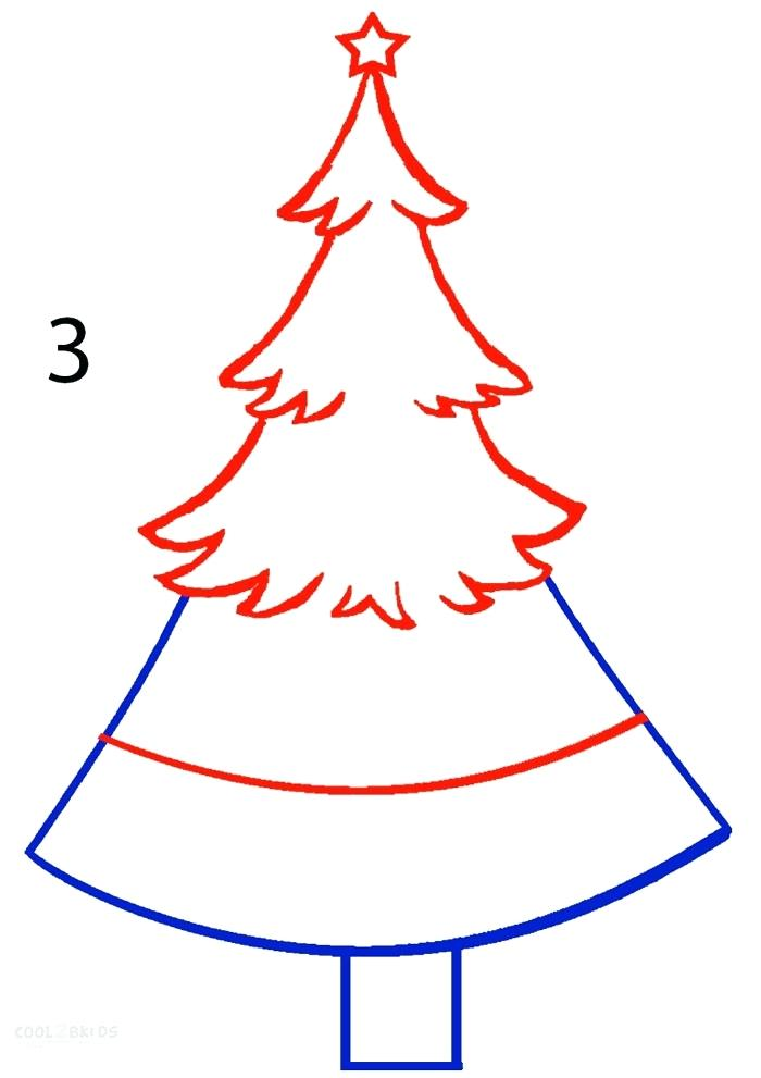 700x991 christmas tree drawing how to draw a tree step christmas tree