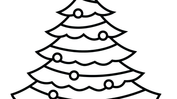 570x320 xmas tree outline tree outline drawing at free for christmas tree