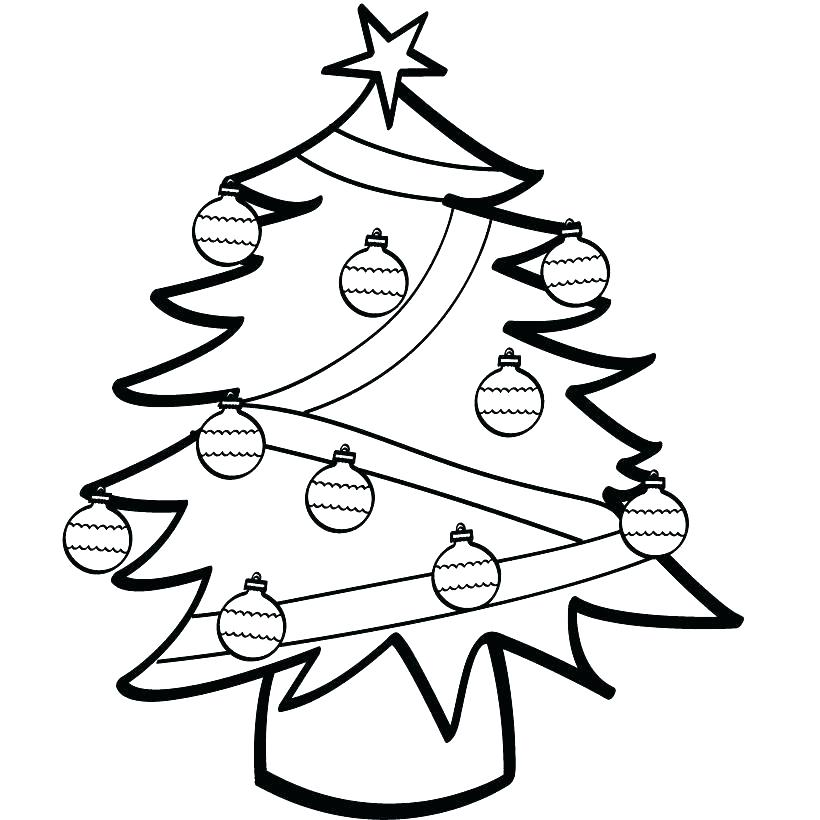 820x820 Christmas Tree Printable Coloring