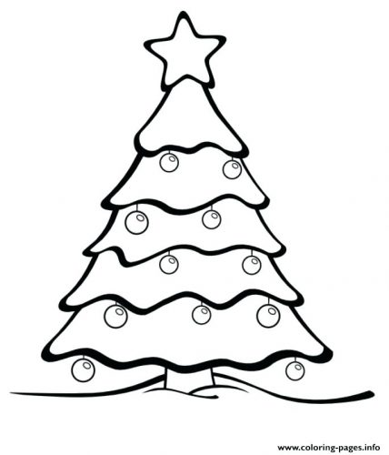 428x500 Coloring Pages Christmas Tree Star Coloring