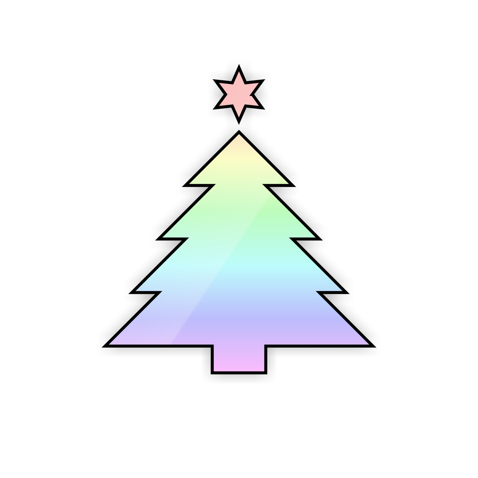 1920x1920 Drawing, Rainbow, Color, Xmas, Christmas