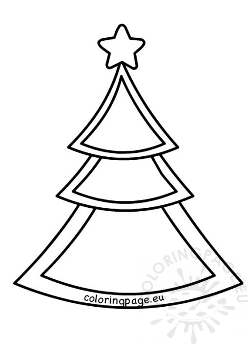 508x702 Xmas Tree With Star Coloring Page