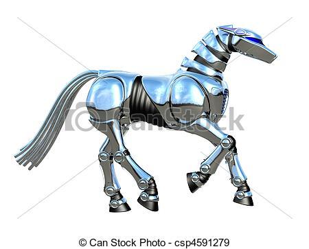 450x363 Chrome Robot Horse