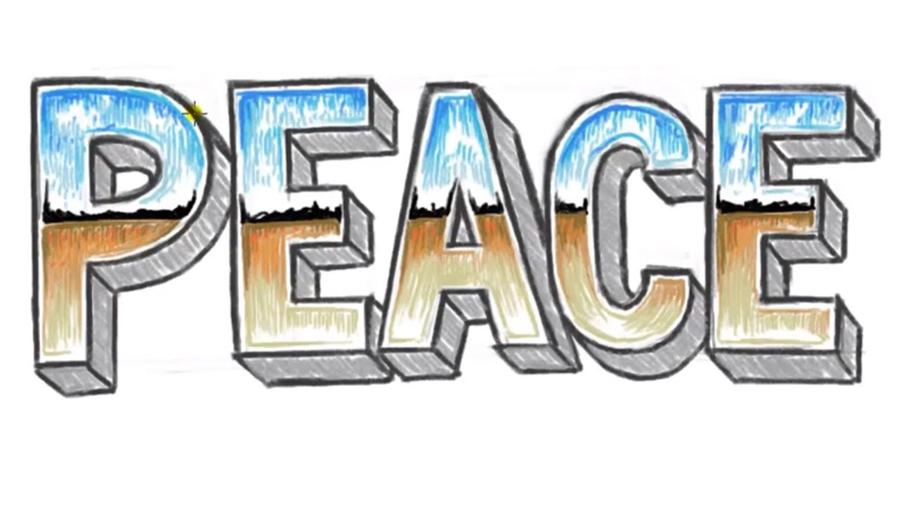 1280x720 How To Draw Peace