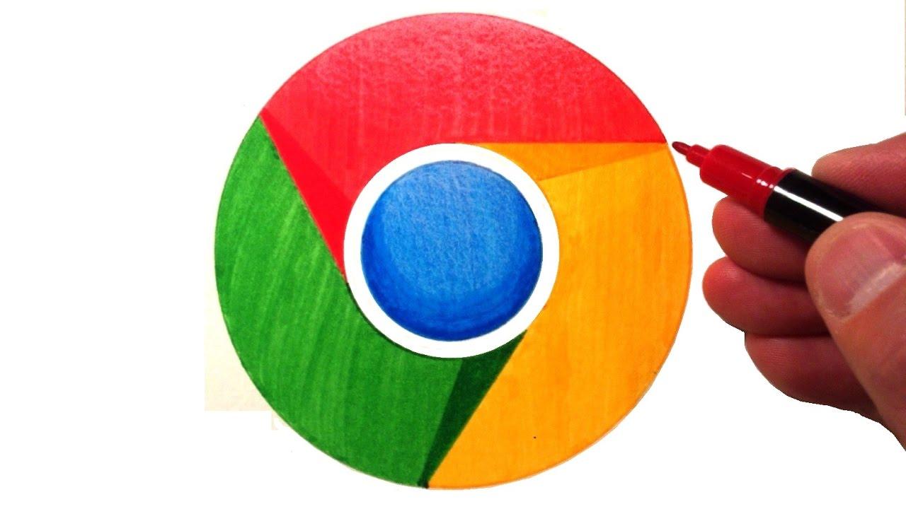 1280x720 How To Draw The Google Chrome Logo