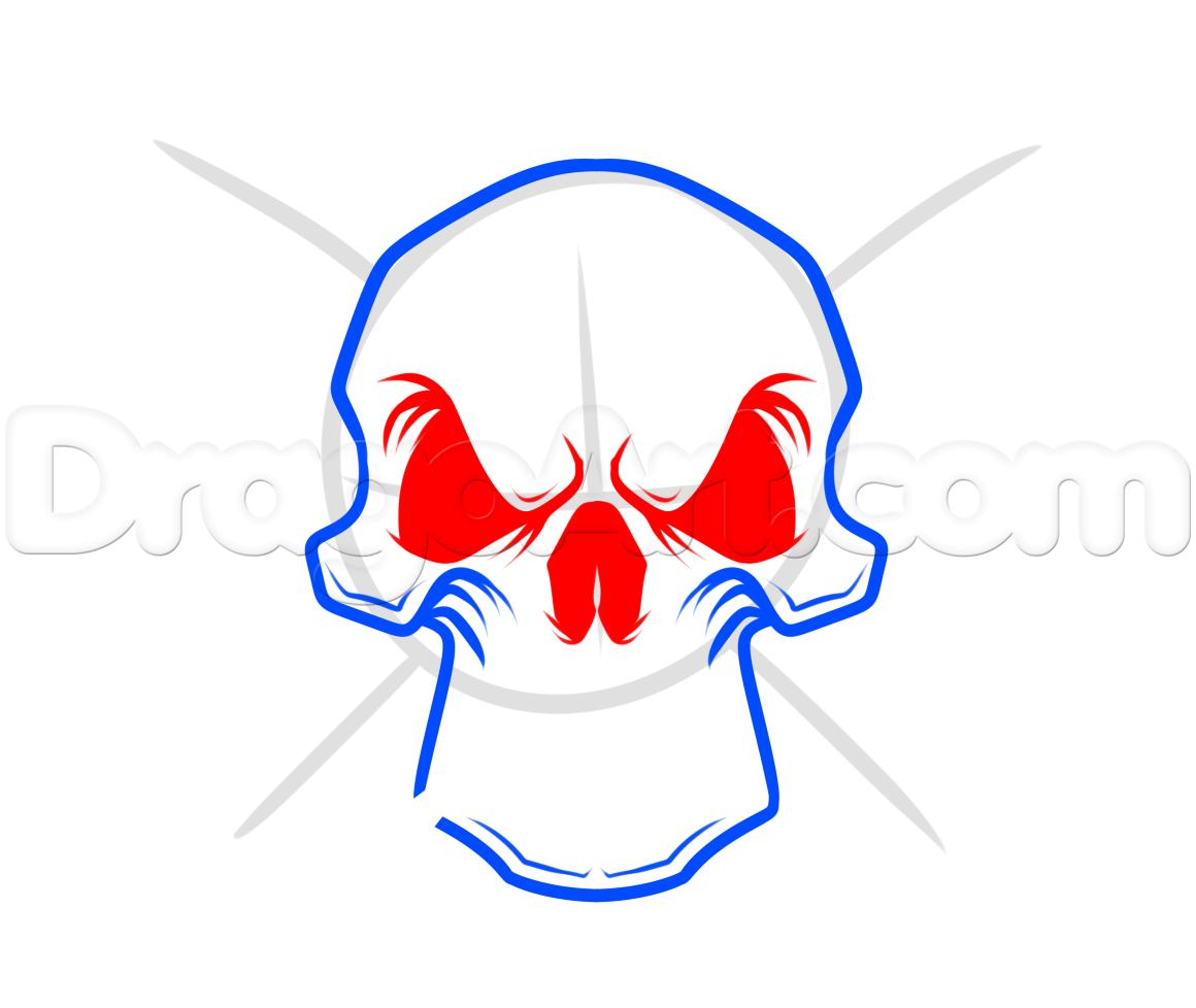 1160x978 Chrome Skull Drawing Lesson, Step