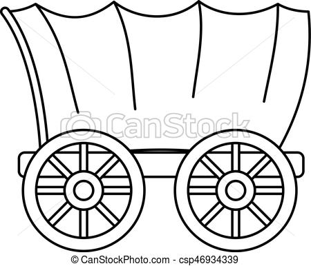 450x386 covered wagon illustrations and clipart covered wagon royalty