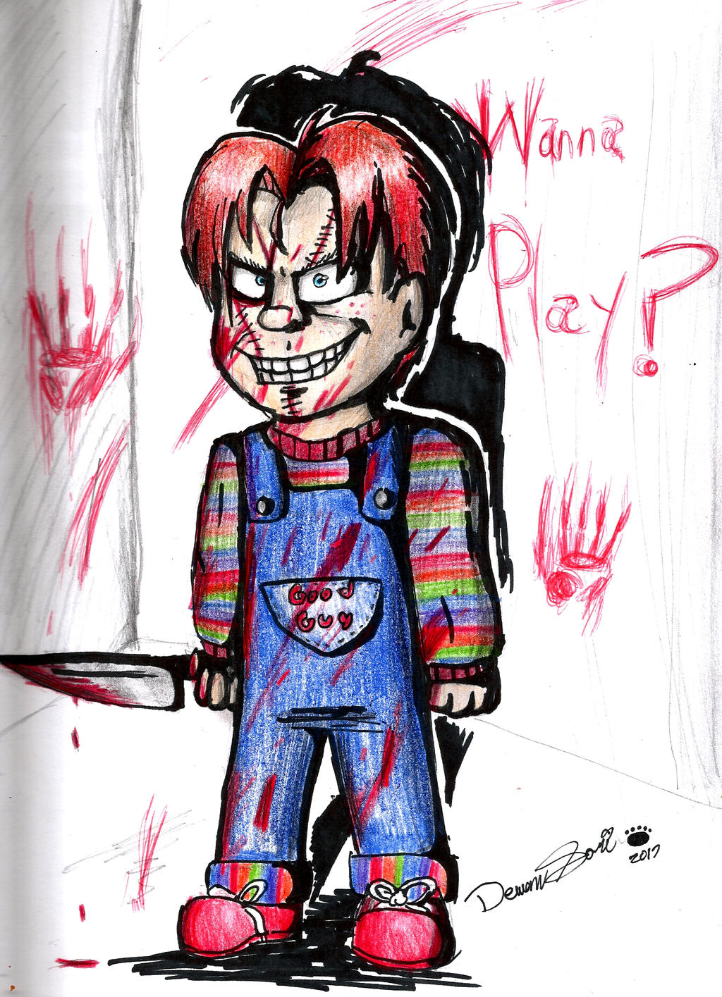 Chucky Clipart Black And White: Collection Of Chucky Clipart