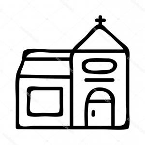 300x300 Church Icon Drawing Building Line Royalty Free Cliparts Vectors