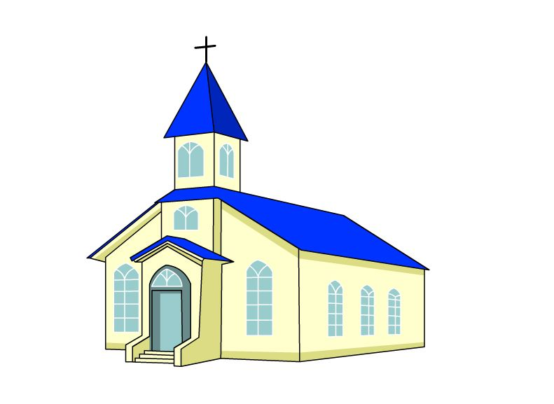 791x577 Draw A Church Painted Churches Drawings, House Styles