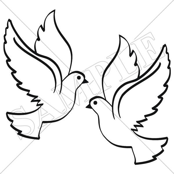 600x600 Gallery For Gt Doves Drawing Church Banners To Make Drawings