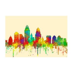 300x300 Cincinnati Ohio Skyline Digital Art