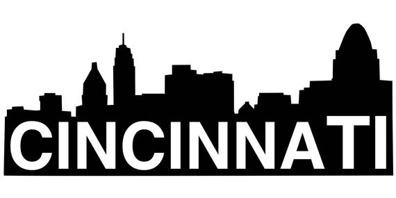 570x285 Items Similar To Cincinnati Ohio City Skyline Silhouette On Etsy