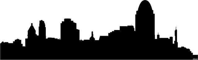 640x194 Cincinnati Skyline Outline