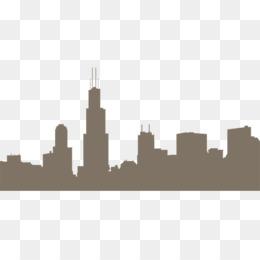 260x260 Chicago Skyline Drawing