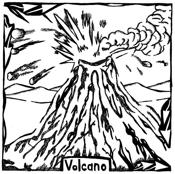 600x597 Volcano Drawing Nature For Free Download