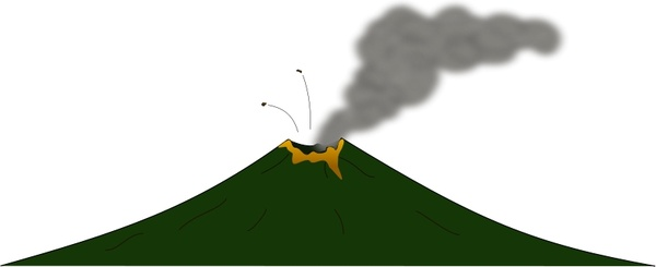 600x245 Volcano Free Vector In Open Office Drawing