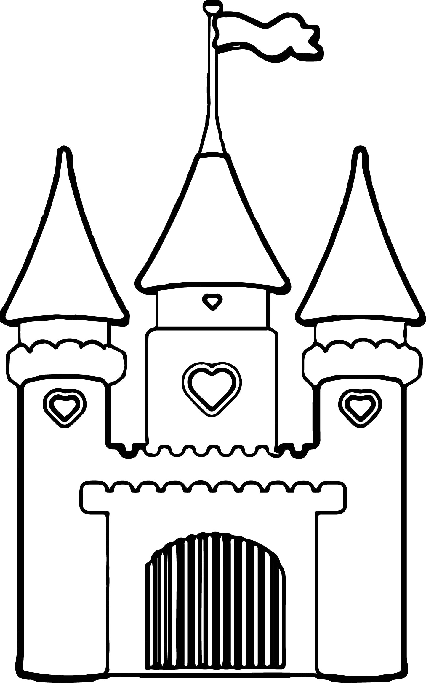 Cinderella Castle Drawing | Free download on ClipArtMag
